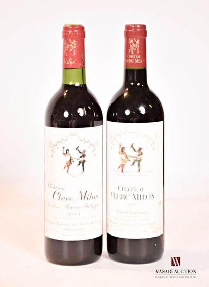 2 bouteillesChâteau CLERC MILONPauillac...