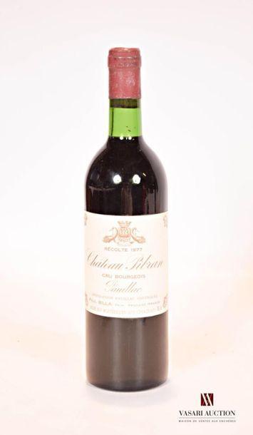 1 bouteilleChâteau PIBRANPauillac CB1977...