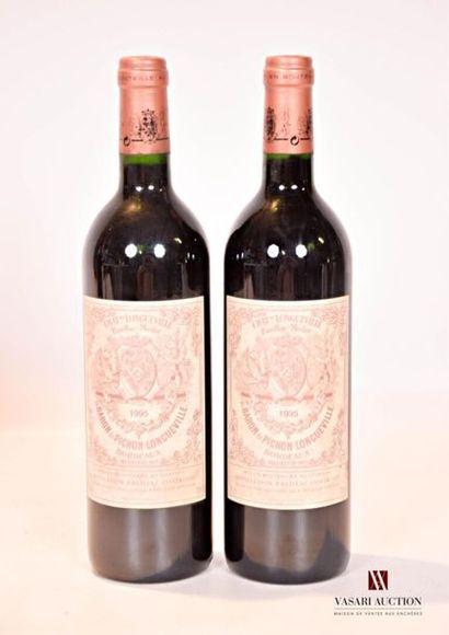2 bouteillesChâteau PICHON LONGUEVILLEPauillac...