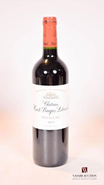 1 bouteilleChâteau HAUT BAGES LIBÉRALPauillac...