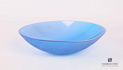 SALVIATI Coupe en verre teinté bleu marine...