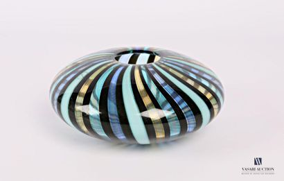 SALVIATI Vase en verre en forme de disque...