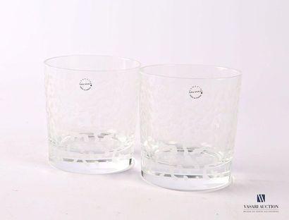 SALVIATI Paire de gobelet à eau en verre...