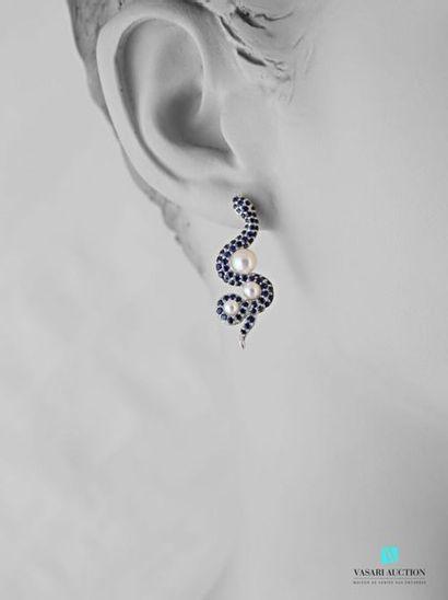 Rambaud 1885, paire de pendants d'oreilles...