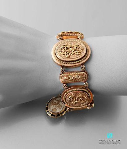 Bracelet souple XIXème siècle en or 750 millièmes...