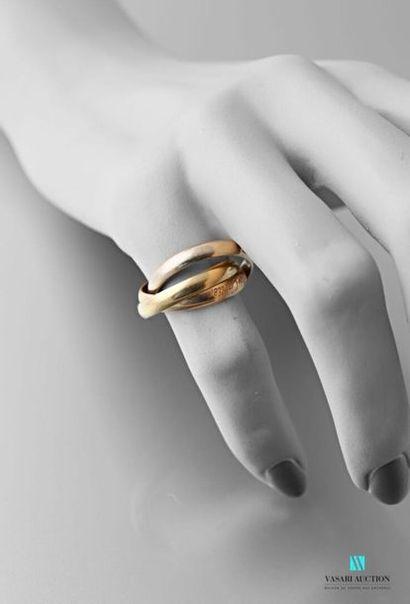 Cartier, collection Must, trois anneaux liés...