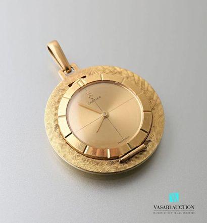 Montre pendentif en or jaune 750 millièmes,...