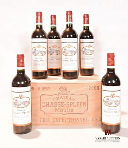 6 bouteillesChâteau CHASSE SPLEENMoulis2000...