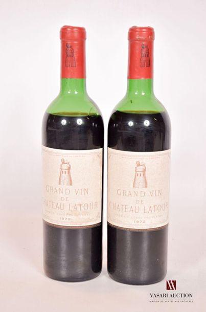 2 bouteillesChâteau LATOURPauillac 1er...