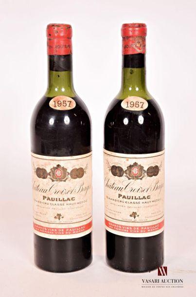2 bouteillesChâteau CROIZET BAGESPauillac...