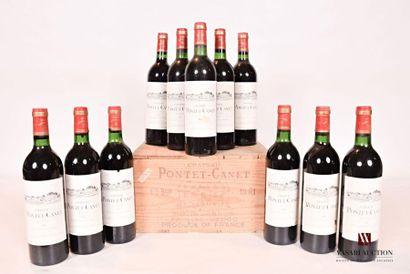 11 bouteillesChâteau PONTET CANETPauillac...
