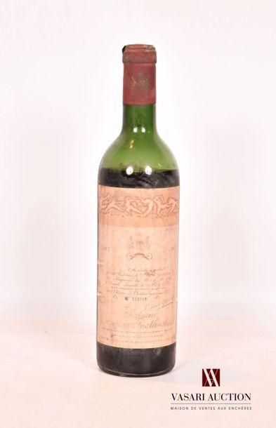 1 bouteilleChâteau MOUTON ROTHSCHILD Pauillac...