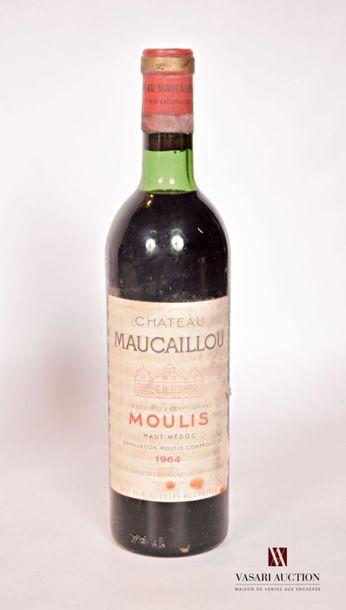 1 bouteilleChâteau MAUCAILLOUMoulis1964...