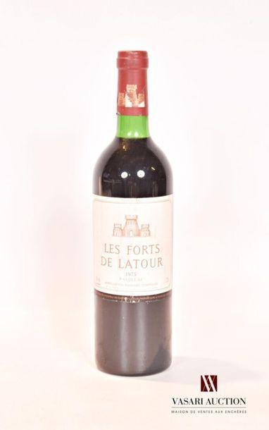 1 bouteilleLES FORTS DE LATOURPauillac1975...