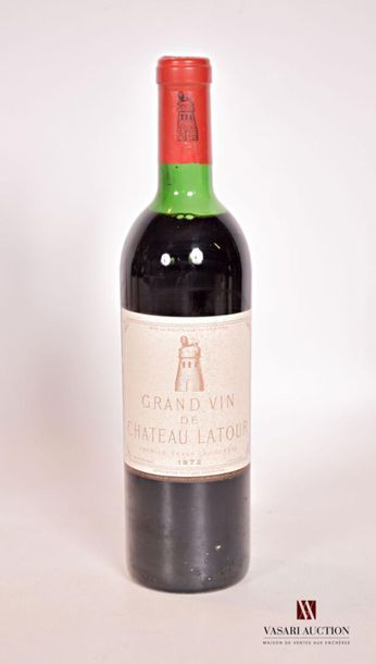 1 bouteilleChâteau LATOURPauillac 1er GCC1972...