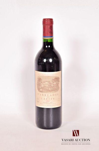 1 bouteilleCARRUADES DE LAFITEPauillac1990...