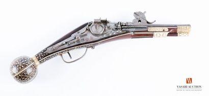 Pistolet à rouet, belle platine porteuse...