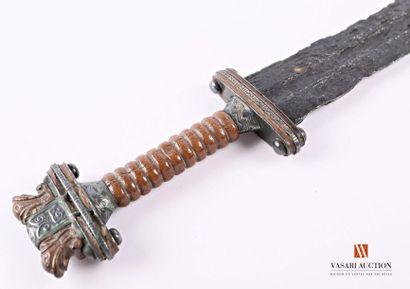 Épée normande, lame de 91 cm oxydée, mauvais...