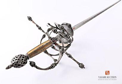 Épée/rapière, lame droite de 121 cm, à double...