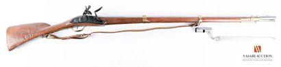 Fusil type dragon 1733, platine à silex de...