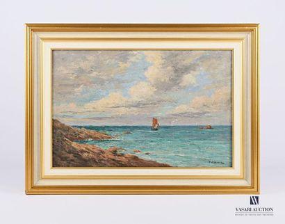 CLAISSE Victor (XXème siècle) Vue côtière...