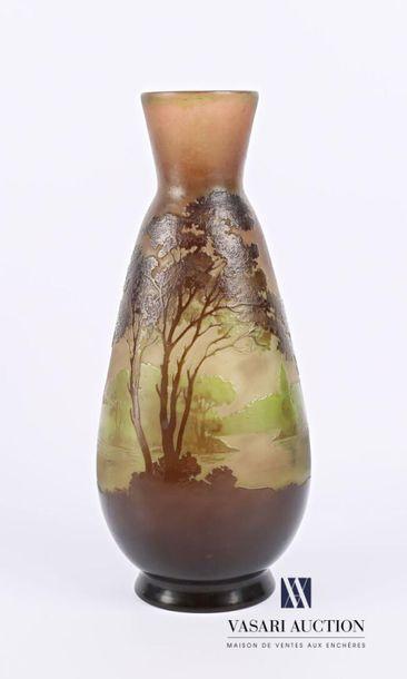 Etablissements GALLE (1904-1936) Vase piriforme...