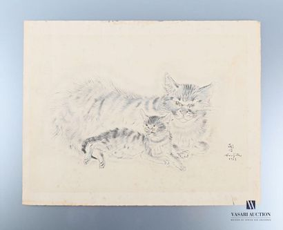 FOUJITA Tsuguharu (1886-1968), d'après Chatte...