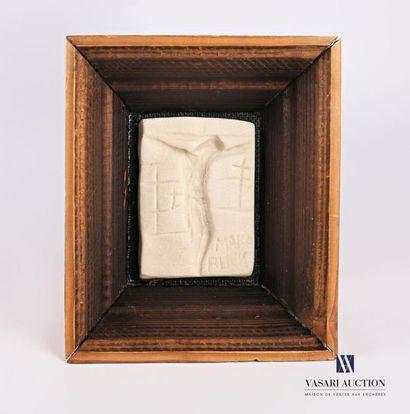 MARA RUCKI (né en 1920) Crucifixion Pâte...
