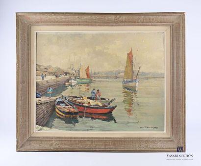 PERNES Léopold (1912-1980) Vue de quais bretons...