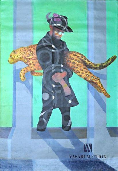 DIAZ Andrès (né en 1961) Homme au jaguar...