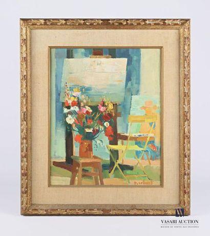 COLLOMB Paul (1921-2010) L'atelier du peintre...