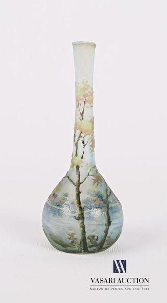 DAUM - Nancy Vase soliflore en verre multicouche...