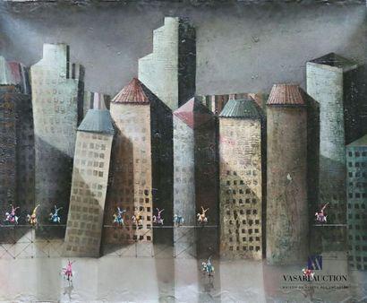 SANCHEZ Trino (né en 1968) Architecture animée...