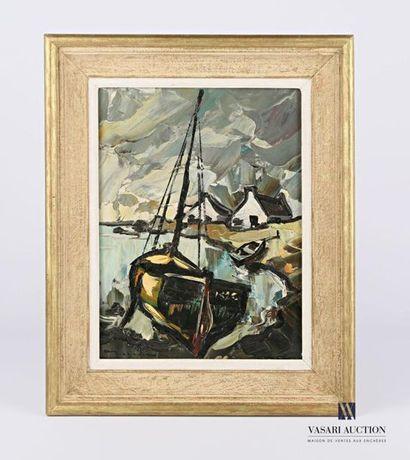 BERNADAC Elie (1913-1999) Voilier et barque...
