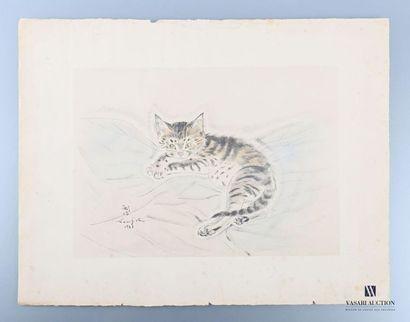 FOUJITA Tsuguharu (1886-1968), d'après Chaton...