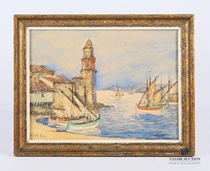 Ecole française du XXème siècle Vue du port...