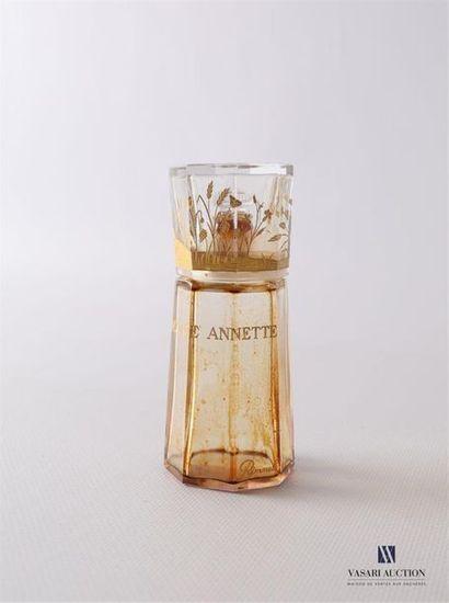 RIMMEL Ma Mie Annette Flacon en cristal de Baccarat de forme octogonale avec son...