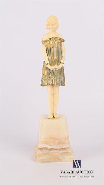 CHIPARUS D. L'Innocence Bronze et ivoire...