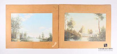 BENON Aristide (1853-1924) Vues de rivière...