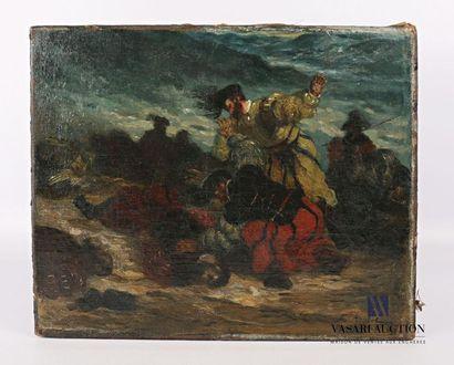 ROYBET Ferdinand (1840-1920) L'attaque Huile...