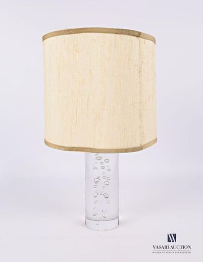 DAUM France Pied de lampe en cristal moulé...