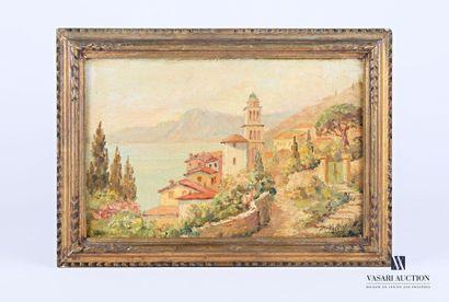 MIDY Arthur (1887-1944) Vue de baie en Italie...