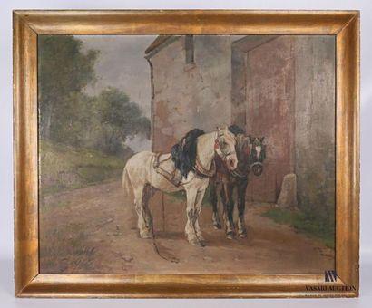 MARTINEZ (début XXème siècle) Chevaux de...