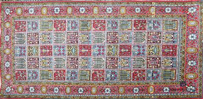 BAKHTIAR - IRAN Tapis en laine à décor compartimenté...