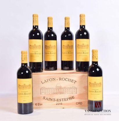 6 bouteillesChâteau LAFON ROCHETSt Estèphe...