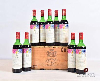 9 bouteillesChâteau MOUTON ROTHSCHILDPauillac...