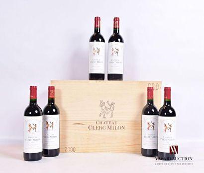 6 bouteillesChâteau CLERC MILONPauillac...