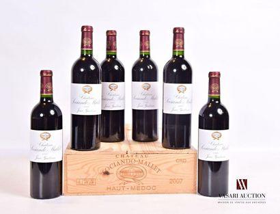 6 bouteillesChâteau SOCIANDO MALLETHaut...