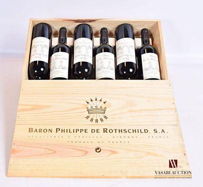 6 bouteillesMISE DE LA BARONNIEPauillac2005...