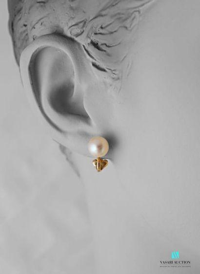 Cartier, paire de clips d'oreilles en or...